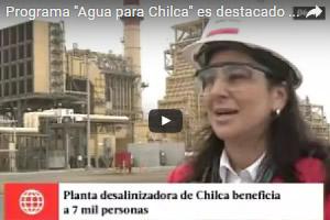 """Programa """"Agua para Chilca"""" es destacado en medio televisivo"""