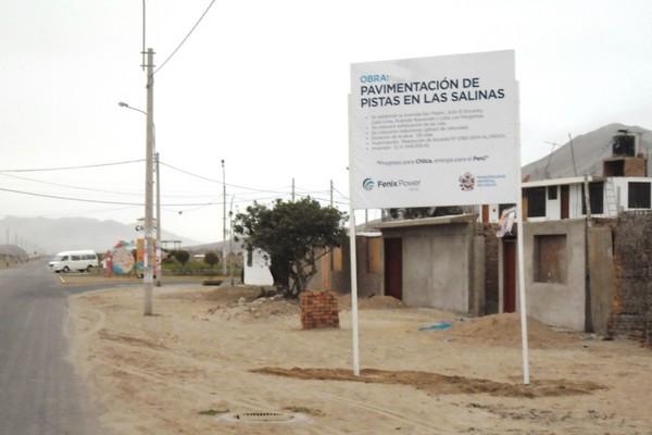 Fenix Power continúa la pavimentación de pistas en Las Salinas