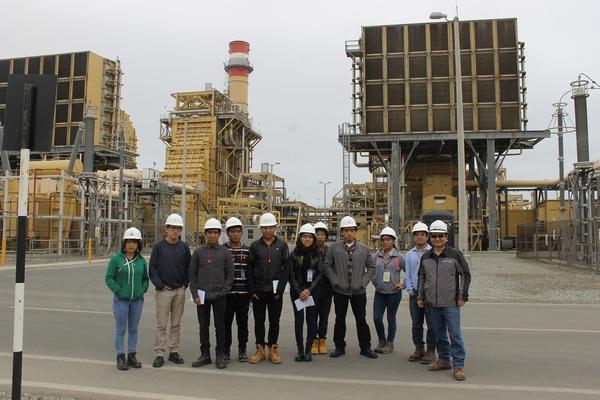 Miembros del VIII Congreso Peruano de Ingeniería de Procesos visitó la Central Térmica de Fenix P