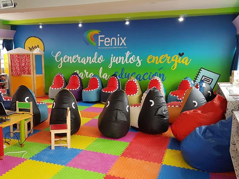 Fenix inaugura primera ludobiblioteca en Chilca