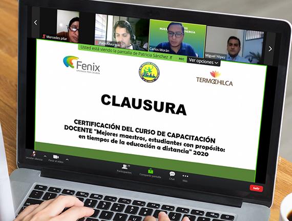 Docentes de educación inicial y primaria de chilca culminan programa de capacitación impulsado por Fenix