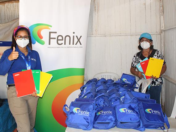 Fenix entrega útiles escolares a instituciones educativas de Chilca